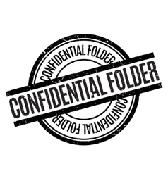 Confidential Folder rubber stamp vector