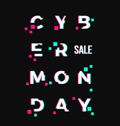 cyber monday sale abstract card or poster vector image