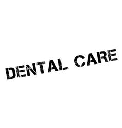 Dental care rubber stamp vector