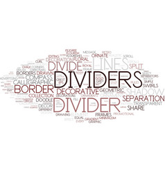 Divide word cloud concept vector