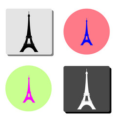 eiffel tower in paris flat icon vector image