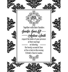 Elegant floral swirls lacy pattern ornate frame vector