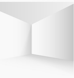 empty corner in the room with gray walls vector image
