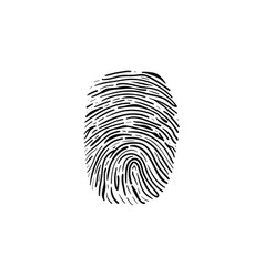 fingerprint hand drawn outline doodle icon vector image