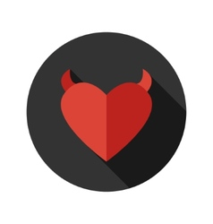 Flat modern round heart icon vector