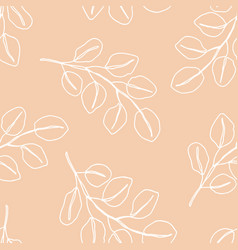 floral seamless pattern with foliage vector image