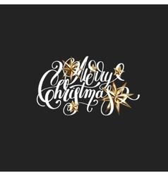 Golden stars and handwritten lettering vector