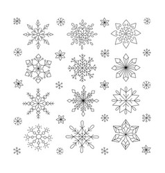 hand drawn snowflakes doodle snowflakes unique vector image