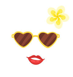 Hawaii face element carnival mask vector