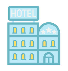 hotel building flat icon travel and tourism vector image