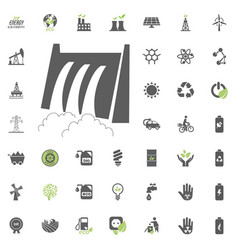 hydro power station icon eco and alternative vector image