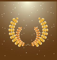 imagination laurel wreath on brown background vector image