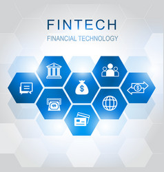 investment financial technology icons vector image