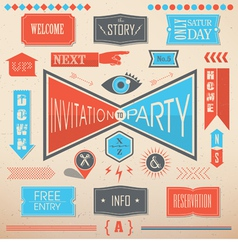 Invitation party design elements vector