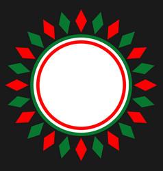Italian symbols card frame vector