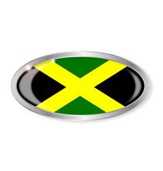 Jamaican flag oval button vector