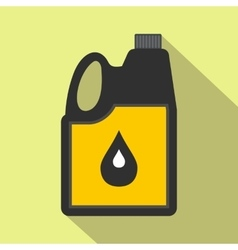 Jerrycan oil flat icon vector image
