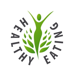 Logo girl for healthy food vector