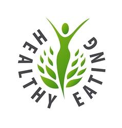 Logo girl for healthy food vector
