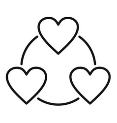Love heart affection icon outline style vector