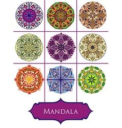 Mandalas collection vector image