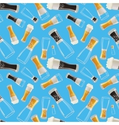 Many glasses with different soda on blue vector image