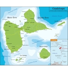 Map of Guadeloupe vector