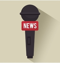 microphone tv news graphic isolated vector image
