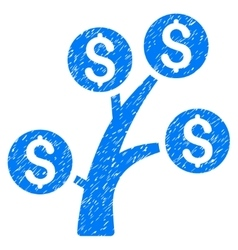 Money Tree Grainy Texture Icon vector
