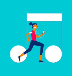 music streaming service app girl concept design vector image