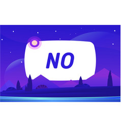 no banner night environment with sky vector image