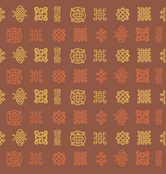Pattern with celtic art and ethnic ornament vector