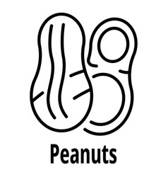 peanuts icon outline style vector image