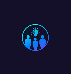 People with ideas icon with gradient vector