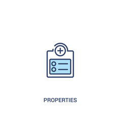 Properties concept 2 colored icon simple line vector