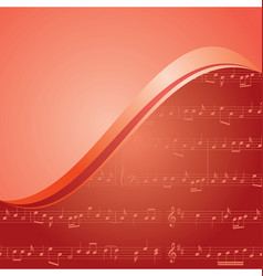 Red music background with gradient vector