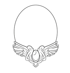 Round frame with decorative element vector image