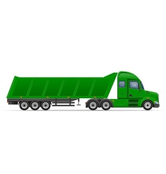 Semi truck trailer 13 vector
