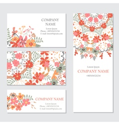 Set of business or invitation cards template vector