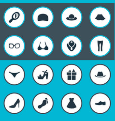 Set simple dress icons vector