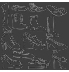 Shoes chalk vector