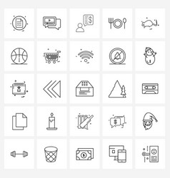 Simple set 25 line icons such as wildlife vector
