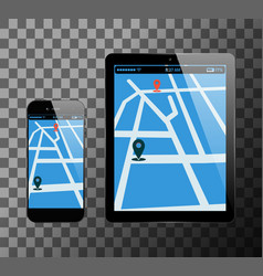 smartphone and pc tablet vector image