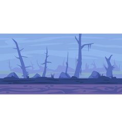 Swamp Game Background vector image