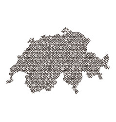 switzerland map abstract schematic from black vector image