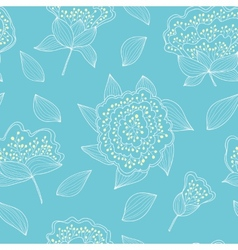 Tender and graceful seamless pattern with hand vector image