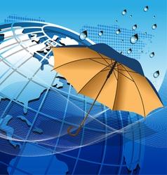 texture globe umbrella vector image