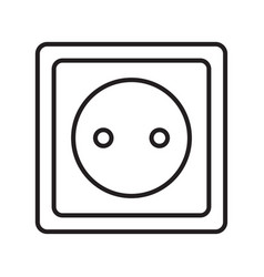 Thin line electric socket icon vector