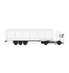 trailer truck cistern heavy transport vehicle vector image