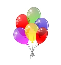 Transparent balloons Multicolored balloons vector